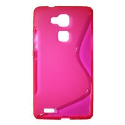 Huawei Mate 7 - Gumiran ovitek (TPU) - roza-prosojen SLine