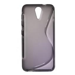 HTC Desire 620 - Gumiran ovitek (TPU) - sivo-prosojen SLine