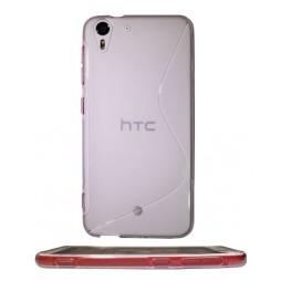 HTC Desire Eye - Gumiran ovitek (TPU) - belo-prosojen SLine