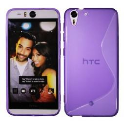 HTC Desire Eye - Gumiran ovitek (TPU) - vijolično-prosojen SLine