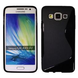 Samsung Galaxy A3 - Gumiran ovitek (TPU) - črn SLine