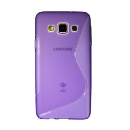 Samsung Galaxy A3 - Gumiran ovitek (TPU) - vijolično-prosojen SLine