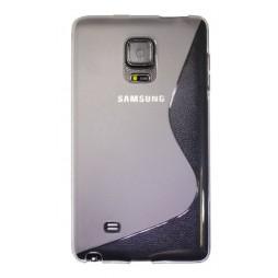 Samsung Galaxy Note Edge - Gumiran ovitek (TPU) - belo-prosojen SLine