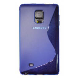 Samsung Galaxy Note Edge - Gumiran ovitek (TPU) - modro-prosojen SLine
