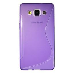 Samsung Galaxy A5 - Gumiran ovitek (TPU) - vijolično-prosojen SLine