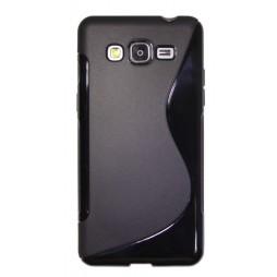 Samsung Galaxy Grand Prime - Gumiran ovitek (TPU) - črn SLine