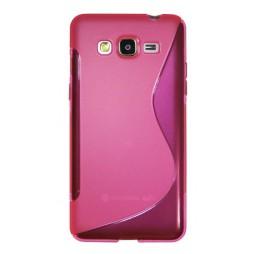 Samsung Galaxy Grand Prime - Gumiran ovitek (TPU) - roza-prosojen SLine