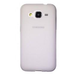 Samsung Galaxy Core Prime - Gumiran ovitek (TPU) - belo-prosojen mat