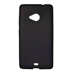 Microsoft Lumia 535 - Gumiran ovitek (TPU) - črn mat