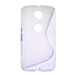 Motorola Nexus 6 - Gumiran ovitek (TPU) - belo-prosojen SLine