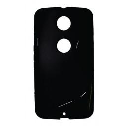 Motorola Nexus 6 - Gumiran ovitek (TPU) - črn SLine