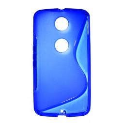 Motorola Nexus 6 - Gumiran ovitek (TPU) - modro-prosojen SLine