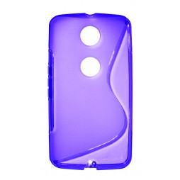 Motorola Nexus 6 - Gumiran ovitek (TPU) - vijolično-prosojen SLine