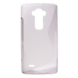 LG G Flex 2 - Gumiran ovitek (TPU) - belo-prosojen SLine