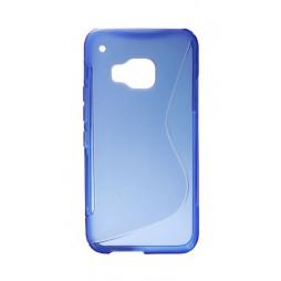 HTC One M9 - Gumiran ovitek (TPU) - modro-prosojen SLine