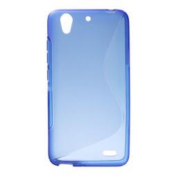 Huawei Ascend G630 - Gumiran ovitek (TPU) - modro-prosojen SLine
