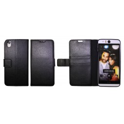 HTC Desire Eye - Preklopna torbica (WLG) - črna