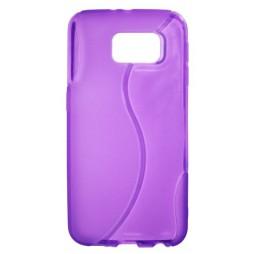Samsung Galaxy S6 - Gumiran ovitek (TPU) - vijolično-prosojen SLine