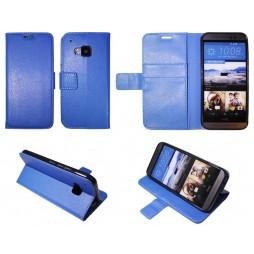 HTC One M9 - Preklopna torbica (WLG) - modra