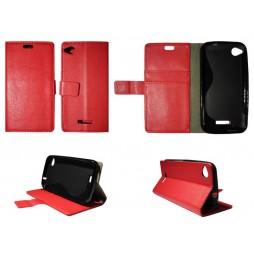 HTC Desire 320 - Preklopna torbica (WLG) - rdeča