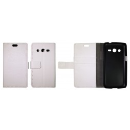 Samsung Galaxy Core LTE - Preklopna torbica (WL) - bela