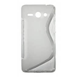 Huawei Ascend Y530 - Gumiran ovitek (TPU) - belo-prosojen SLine