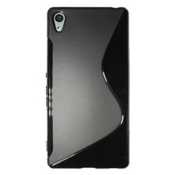 Sony Xperia Z3+ - Gumiran ovitek (TPU) - črn SLine