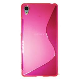Sony Xperia Z3+ - Gumiran ovitek (TPU) - roza-prosojen SLine