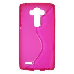 LG G4 - Gumiran ovitek (TPU) - roza-prosojen SLine