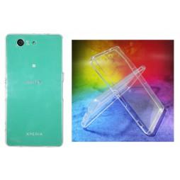 Sony Xperia Z3 Compact/Mini - Gumiran ovitek (TPUA) - prosojen