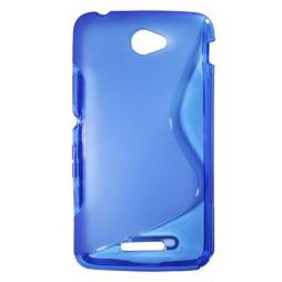 Sony Xperia E4 - Gumiran ovitek (TPU) - modro-prosojen SLine