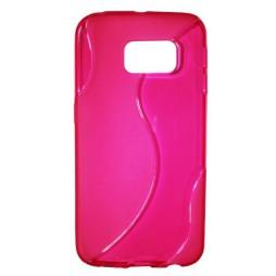 Samsung Galaxy S6 Edge - Gumiran ovitek (TPU) - roza-prosojen SLine