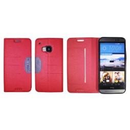 HTC One M9 - Preklopna torbica (47G) - rdeča