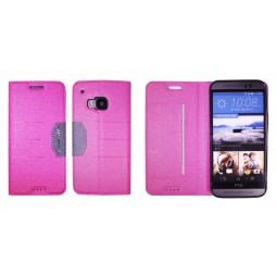HTC One M9 - Preklopna torbica (47G) - roza