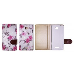 Sony Xperia E4 - Preklopna torbica (64) - bela
