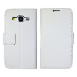 Samsung Galaxy Core Prime - Preklopna torbica (WLG) - bela