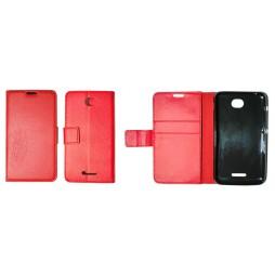 Sony Xperia E4 - Preklopna torbica (WLG) - rdeča