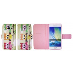 Samsung Galaxy A3 - Preklopna torbica (WLGP) - Owls
