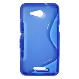 Sony Xperia E4g - Gumiran ovitek (TPU) - modro-prosojen SLine