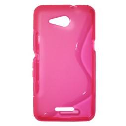 Sony Xperia E4g - Gumiran ovitek (TPU) - roza-prosojen SLine