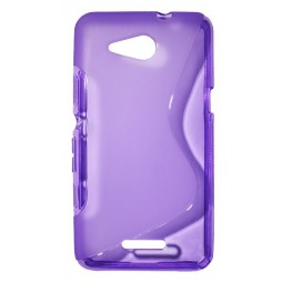 Sony Xperia E4g - Gumiran ovitek (TPU) - vijolično-prosojen SLine