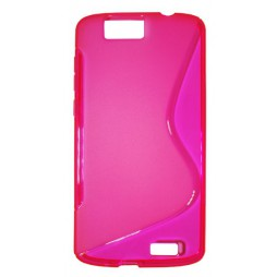 Huawei Ascend G7 - Gumiran ovitek (TPU) - roza-prosojen SLine