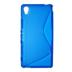 Sony Xperia M4 Aqua - Gumiran ovitek (TPU) - modro-prosojen SLine