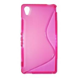 Sony Xperia M4 Aqua - Gumiran ovitek (TPU) - roza-prosojen SLine