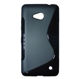 Microsoft Lumia 640 LTE - Gumiran ovitek (TPU) - črn SLine