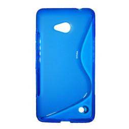 Microsoft Lumia 640 LTE - Gumiran ovitek (TPU) - modro-prosojen SLine