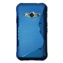 Samsung Galaxy Xcover 3 - Gumiran ovitek (TPU) - modro-prosojen SLine