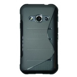 Samsung Galaxy Xcover 3 - Gumiran ovitek (TPU) - sivo-prosojen SLine