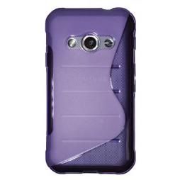 Samsung Galaxy Xcover 3 - Gumiran ovitek (TPU) - vijolično-prosojen SLine