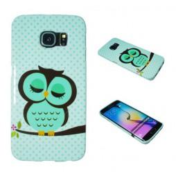 Samsung Galaxy S6 Edge - Gumiran ovitek (TPUP) - Owl